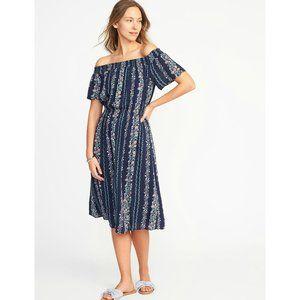 NWOT Old Navy Off The Shoulder Printed Dress